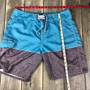 Ezekiel Swim - Ezekiel Blue Gray Board Shorts Mens Size 36